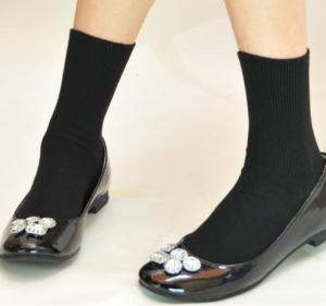 女性 靴下 黒